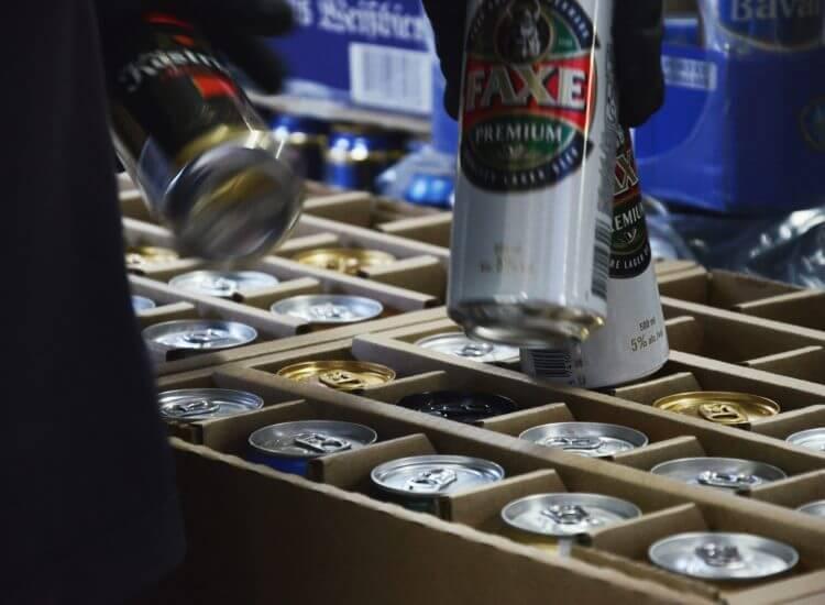 Befüllung der Bier-Adventkalender